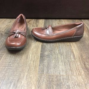 Clarks Brown Slip On Loafers | Size 10M